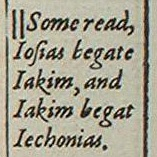 A footnote at Matthew 1:11 in the 1611 King James Version