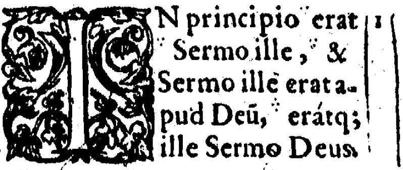 John 1:1 in Beza's 1598 Latin New Testament