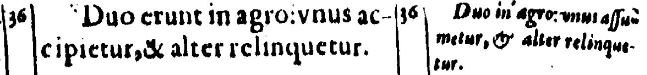 Luke 17:36 in Beza's 1598 Latin New Testament