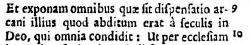 Latin translation of the Syriac at Ephesians 3:9 in Brian Walton's 1657 Polyglot/small>