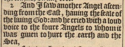 Revelation 7:2 in the 1611 King James Version