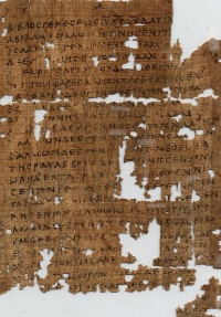 Papyrus 1 with text Matthew 1:1-9; in 1,3 it has a variant Ζαρε against Ζαρα