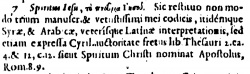 Footnote in Acts 16:7 in Beza's 1598 Greek New Testament