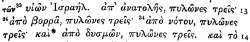 Revelation 21:13 in Scrivener's 1881 Greek New Testament