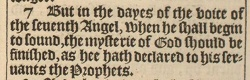 Revelation 10:7 in the 1611 King James Version