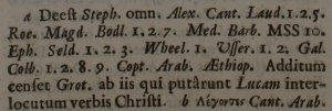 Footnote at Luke 7:31 in the 1707 New Testament of Mill