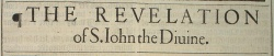 Revelation Title in the 1611 King James Version