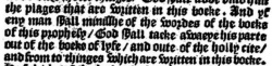Revelation 22:19  in Tyndale's 1535 Middleburch imprint
